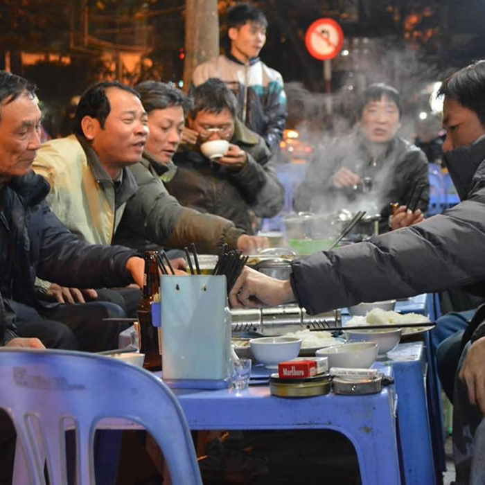 Street food dinner party